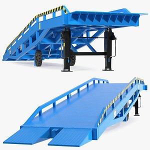 3D Mobile Loading Dock Ramp Blue