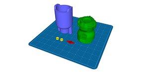 fallout battery 3D model