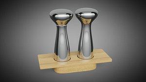 3D Alfredo Salt and Pepper Mills by Georg Jensen model