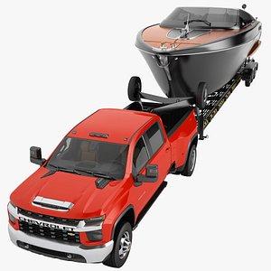 3D Chevrolet Silverado 3500 HD 2021 13 model