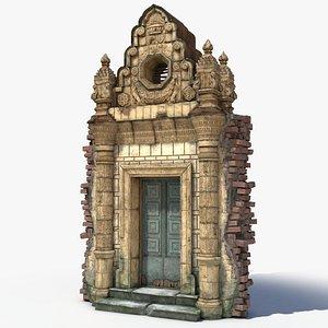 3D old door portal