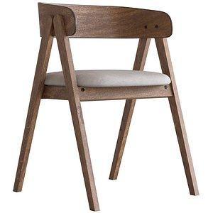 Cult Furniture Beckett Wooden Dining Chair 3D