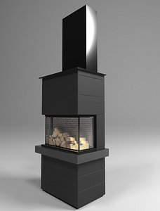 fireplace architecture 3D model