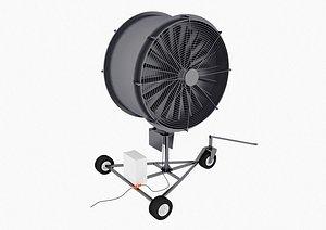 turf fan 3D model