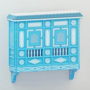 Blue Mashrabiya 3D model