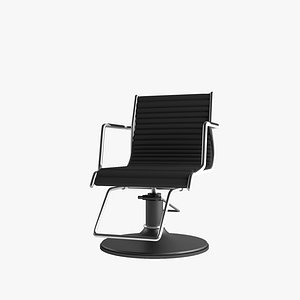 3D model Barber Chair Standard Fiore