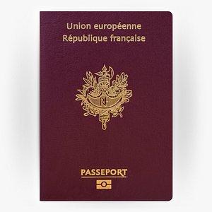 FRANCE Passport 3D