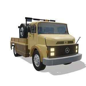 3D caminhão mercedes benz 1313 model