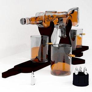 3D Rifle Gun Whiskey Decanter