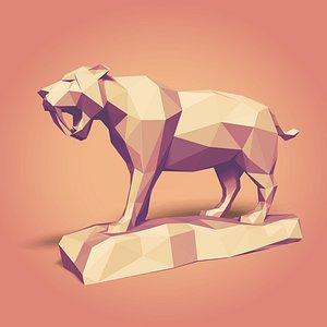 3D cartoon tiger model
