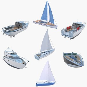 Recreational Boats Collection 3D model