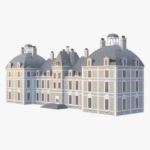 3D Classic English Mansion model