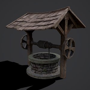 3D Medieval Water Well