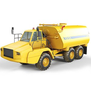 3D articulated water tanker model