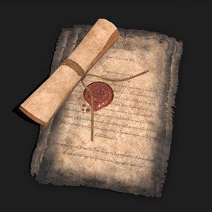 3D model Medieval Elegant Fancy Papers