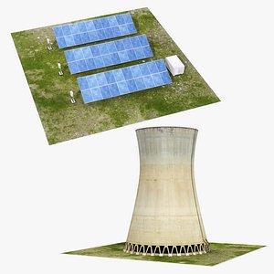 3D model power plant element