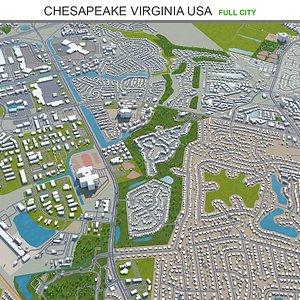 3D Chesapeake Virginia USA