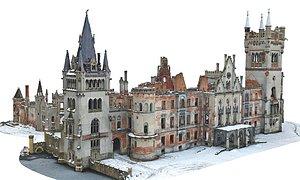 3D castle building structure