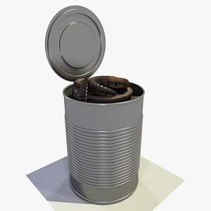 A Can of Earthworms Animated 3D model