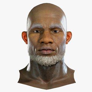 Realistic model of male head Chris 3D model