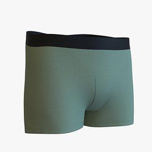boxer male underpants 3D model