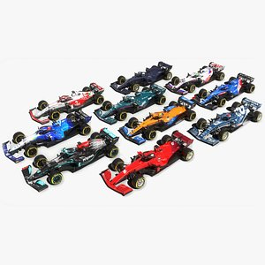 3D Formula 1 Season 2021 F1 Race Car Collection