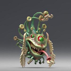 3D covid monster model