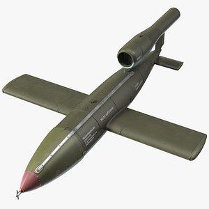 German V1 Flying Bomb Buzz Bomb model