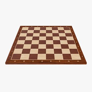 chess wood wooden 3D model