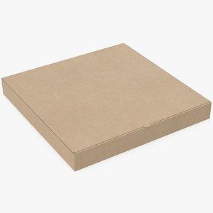 3D pizza box mockup model
