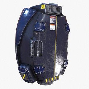 backpack canister case bag 3D