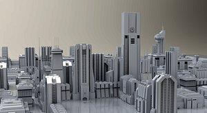 14 sci-fi buildings imperial 3D