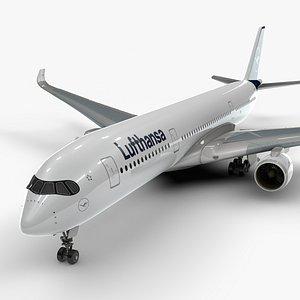 a350-900 lufthansa l1108 3D model