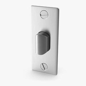 Door Lock Latch Steel V02 3D model