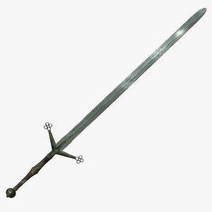 3D claymore greatsword sword model