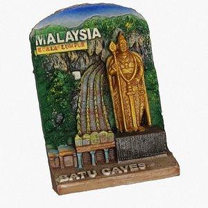 batu caves magnet souvenir 3D model