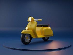 Scooter Cartoon 3D model 3D model