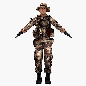 3D pla chinese soldier model