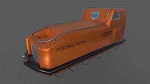 Davit Life Boat 3D