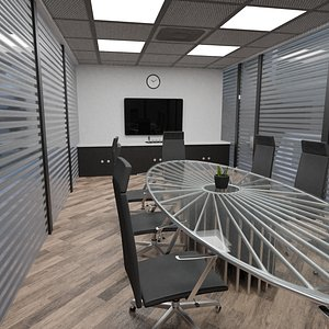 3D photorealistic conference room scene