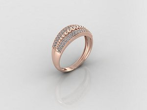 3D ring stl render print model