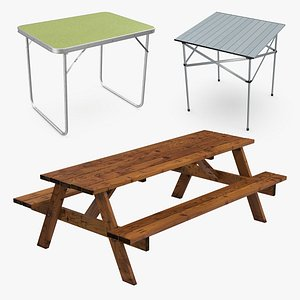 3D picnic tables