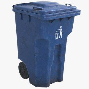 Recycle Bin Blue HD 3D model