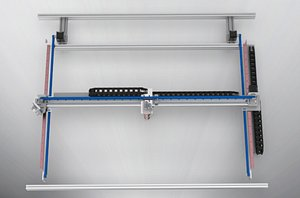 3D model Profile gantry shifting mechanism