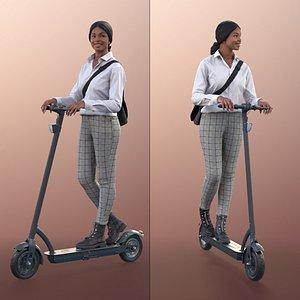 3D woman bag scooter