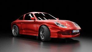 3D 3D car inspired in a 911 Carrera 4S 1998
