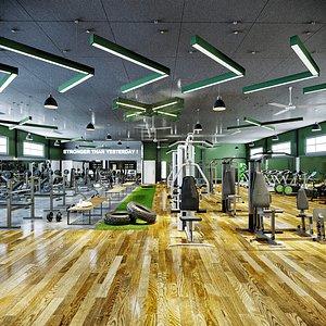 gym fitness sport 3D model