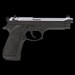 Beretta 92 Low Poly model