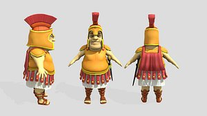 3D stylized fat roman soldier