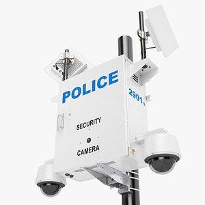 3D cctv police street model